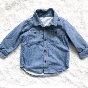 Baby Gap Baby Boys Lined Jean Button Up